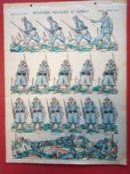 Image D' Epinal Pellerin - Infanterie Française Au Combat N° 151 - Format 30 X 40 Cm - Vieux Papiers