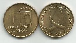 Equatorial Guinea 1 Peseta 1969. High Grade - Guinée Equatoriale