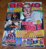 Eminem Tokio Hotel Ashlee Simpson -  BRAVO Serbian June 2006 VERY RARE - Magazines