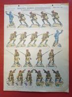 Image D' Epinal Pellerin - Troupes Noires à L' Assaut N° 155 - Format 30 X 40 Cm - Vieux Papiers