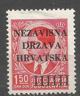HR 1941-03 DEFINITIVE, CROATIA HRVATSKA, 1 X 1v, MNH - Croatie