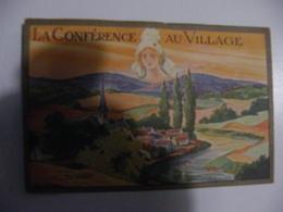 CPA André Hofer La Conférence Au Village Tampon La Conference Au Village Paris Un Peu Effacé Au Dos - France