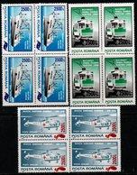 Romania 2001 Scott 4463-4477 MNH Block Of Four Overprint (four Scan) - Ungebraucht