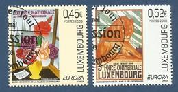 Luxembourg  2003  Mi.Nr. 1607 / 1608 , EUROPA CEPT Plakatkunst - Gestempelt / Fine Used / (o) - 2003