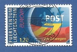 Liechtenstein  2003  Mi.Nr. 1310 , EUROPA CEPT Plakatkunst - Gestempelt / Fine Used / (o) - Europa-CEPT