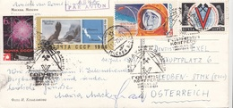 UDSSR 196? - 4 Sondermarken + SoStempel Auf Großer Ak MOSKAU - 1923-1991 UdSSR