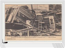 10224  FRD27 AK PC CPA/FRANCE/DERAILLEMENT DE L EXPRESS DE CHERBOURG EN GARE DE BERNAY/DEBRIS DE WAGON/1910 - Altri Comuni