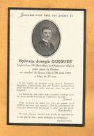 FAIRE PART DECES  SOLDAT POILU  MILITAIRE REGIMENT  WWI 70 EME CHASSEURS  1914 SERANVILLE - Documents