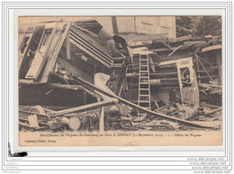 10224  FRD27 AK PC CPA/FRANCE/DERAILLEMENT DE L EXPRESS DE CHERBOURG EN GARE DE BERNAY/DEBRIS DE WAGON/1910 - Francia
