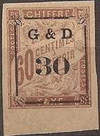 Guadeloupe Taxe 13 Variété Abeille Tournée N* SUPERBE Cote 1450€ Signé RRR - Guadeloupe (1884-1947)