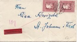 ÖSTERREICH EXPRESS 1948 - 2 X 60 Gro Auf Brief Mit Inhalt Gel.v. Wien > St. Johann - Errores & Curiosidades