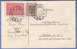 JUGOSLAWIEN 1930 - 0,50 + 1 D Auf Pk Gel.v. Zagreb > Berlin - Briefe U. Dokumente