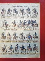 Image D' Epinal Pellerin - Etat Major : Revue N° 160 - Format 30 X 40 Cm - Vieux Papiers
