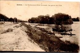 JUZIERS Restaurant -Hôtel DUMONT --La Pointe De L'Isle CPA Ecrite En 1905 TBE - Autres Communes