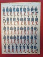 Image D' Epinal Pellerin - Infanterie De Ligne N° 181 - Format 30 X 40 Cm - Vieux Papiers