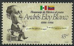 1997  Homenaje De México Al Poeta Andrés Eloy Blanco MNH POET  WRITER, FLAGS  VENEZUELA Sc. 2019 MNH - Mexico