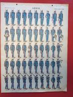 Image D' Epinal Pellerin - Génie N° 186 - Format 30 X 40 Cm - Vieux Papiers