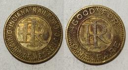 TOKEN GETTONE JETON TRANSIT STATI UNITI INDIANA RAILROAD DIVISION OF WESSON R.I. - Monetary/Of Necessity