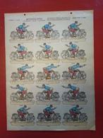 Image D' Epinal Pellerin - Motocycliste Fonçant Sur L'Ennemi  N° 209bis - Format 30 X 40 Cm - Vieux Papiers