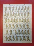 Image D' Epinal Pellerin - Zouaves En Marche Et Chargeant N° 212bis - Format 30 X 40 Cm - Vieux Papiers