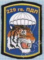 RUSSIA / Patch Abzeichen Parche Ecusson / 229 Parachute Regiment. Special Forces. Tiger. - Blazoenen (textiel)