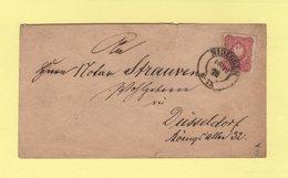 Nideggen Destination Dusseldorf - 1878 - Allemagne