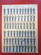 Image D' Epinal Pellerin - Musique D'artillerie - Musique Du Génie N° 230 - Format 30 X 40 Cm - Vieux Papiers