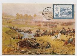 CARTE MAXIMUM CM Card USSR RUSSIA War Napoleon France Cavalry Art Painting Rubo - 1923-1991 USSR