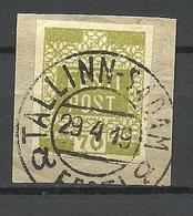 ESTLAND Estonia 1919 O TALLINN-SADAM Auf Michel 4 - Estonie