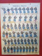 Image D' Epinal Pellerin - Turcos à L' Excercice N° 228 - Format 30 X 40 Cm - Vieux Papiers