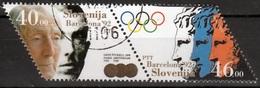 Slovenie Mi 27,28 Paar Olympische Spelen 92 Barcelona Gestempeld Fine Used - Zomer 1992: Barcelona