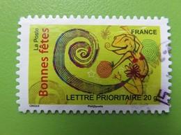 """Timbre France YT 4316 AA (N° 247) - """"Bonnes Fêtes"""" - Composition Avec Caméléon - 2008 - Sellos Autoadhesivos"""
