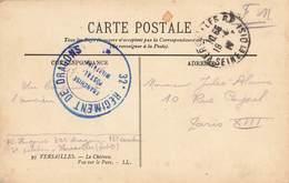 Cachet Militaire Guerre 1914 1918 32e Regiment De Dragons Versailles Correspondance Franchise Postale Militaire - Marcophilie (Lettres)