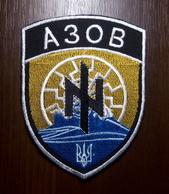Patch Battalion AZOV National Guard Of UKRAINE WAR For DONBASS Ärmelabzeichen Ecusson Parche - Ecussons Tissu