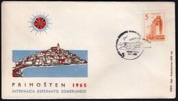 Yugoslavia Croatia Primosten 1965 / Internacia Esperanto Somerumejo - Esperanto