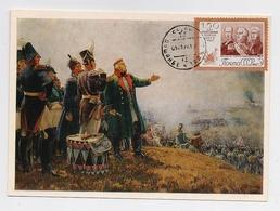 CARTE MAXIMUM CM Card USSR RUSSIA War Napoleon France Cavalry Art Painting Kutuzov General Borodino - 1923-1991 USSR