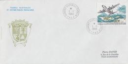 Enveloppe   FDC   1er  Jour   T.A.A.F     Inauguration  De  La  Piste  De   TERRE  ADELIE   1993 - FDC