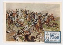 CARTE MAXIMUM CM Card USSR RUSSIA War Napoleon France Cavalry Art Painting - 1923-1991 USSR