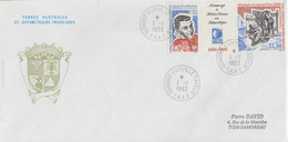 Enveloppe   FDC   1er  Jour   T.A.A.F    Hommage  à  Météo  France  En  Antarctique   1993 - FDC
