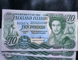 Falkland Islands 10 Pound 2011 UNC. 18 Rare Banknote - Falkland