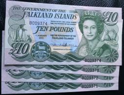 Falkland Islands 10 Pound 2011 UNC. 18 Rare Banknote - Falklandeilanden