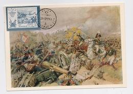 CARTE MAXIMUM CM Card USSR RUSSIA War Napoleon France Cavalry Art Painting Artillery - 1923-1991 USSR
