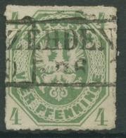 Preußen 1861 Preußischer Adler 14 A Gestempelt - Preussen