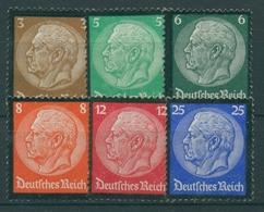 Deutsches Reich 1934 Tod Hindenburgs 548/53 Ohne Gummierung (R17283) - Ungebraucht