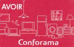 Carte Cadeau   ## CONFORAMA  Avoir ##    Gift Card, Giftcart, Carta Regalo, Cadeaukaart - Gift Cards