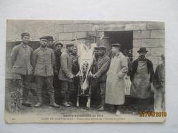 CPA  CP Militaria MORBIHAN 56 Camp COETQUIDAN 14/18 GUERRE PRISONNIERS ALLEMANDS CORVEE DE COCHON Pig Prisoner Allemagne - War 1914-18