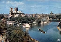 Carte GRAND FORMAT PARIS-75-Cathédrale Notre-Dame 1163-1260-Flèche Brulée 15-04-2019-Religion-Flamme Croix-Rouge-Péniche - Eglises