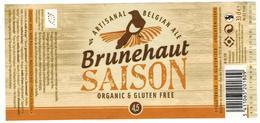 Etiquette Bière Brunehaut Saison 33 Cl Brasserie De Brunehaut Bier Etiket Beer Label - Beer