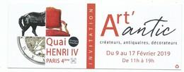 Ticket D'entrée - Salon Art' Antic Paris Quai Henri IV Salon De Créateurs Antiquaires Décorateurs - - Tickets - Entradas