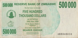 Zimbabwe / 500 000 Dollars / 2008 / P-51(a) / VF - Zimbabwe